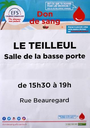 Don du sang @ Salle de la Basse Porte