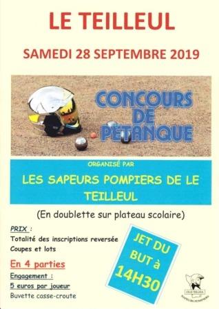 Concours de pétanque doublettes des anciens sapeurs-pompiers du Teilleul @ Plateau scolaire