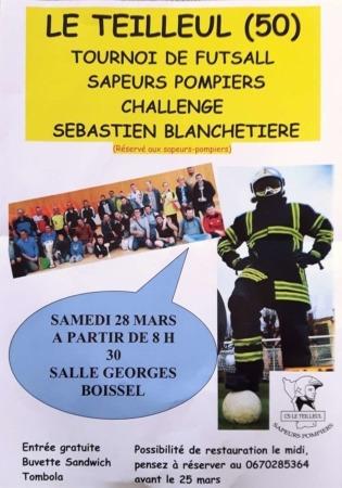 XX Tournoi de football en salle des sapeurs-pompiers du Teilleul @ Salle Georges Boissel