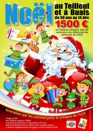 Tombola des LUTINS du Père Noël @ Dans tous les commerces et chez les artisans adhérents à l'UCA Le Teilleul