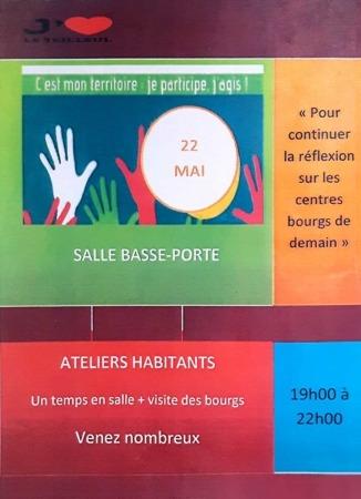 Revitalisation des Bourgs - Ateliers Habitants @ Salle de la Basse Porte