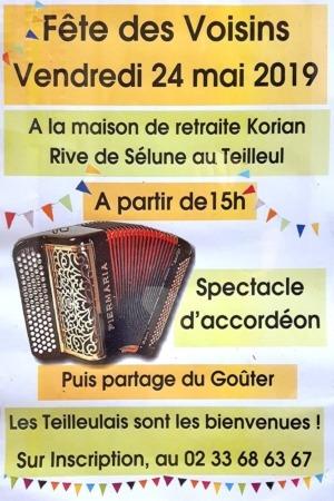 Fête des Voisins @ Maison de retraite Korian, Rive de Sélune