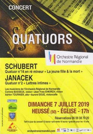 Concert QUATUORS @ Église de Heussé