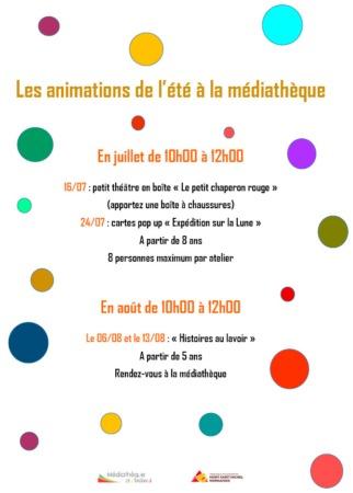 Animation de l'été à la Médiathèque @ Médiathèque du Teilleul