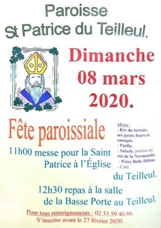 Fête paroissiale Saint-Patrice @ Salle de la Basse Porte