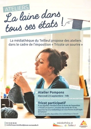 Atelier Pompons @ Médiathèque