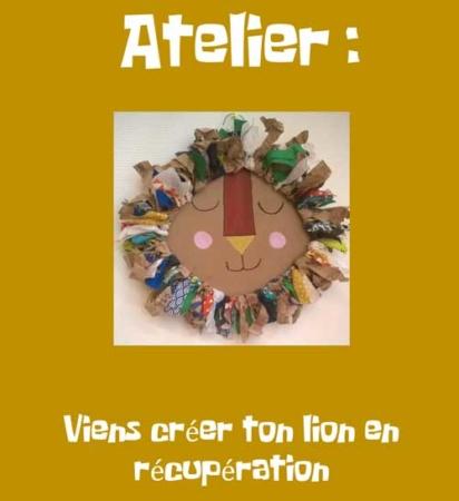 """Atelier """"Viens créer ton lion..."""" @ Médiathèque"""