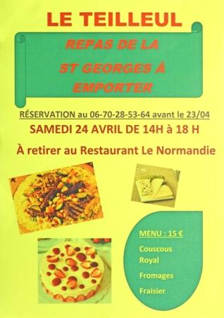 Repas de la St-George (à emporter) @ Restaurant Le Normandie